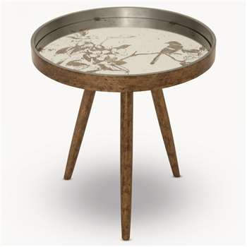 Waltham Tray Table with Bird Pattern (54.5 x 52m)