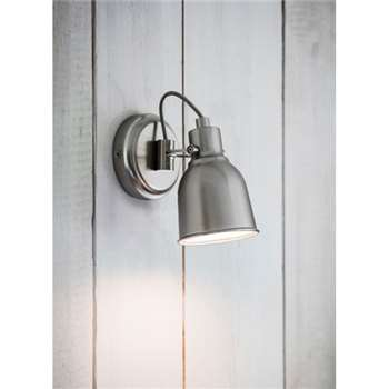 Walton Wall Light - Satin Nickel (9 x 10cm)