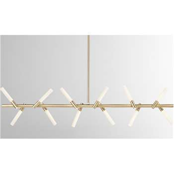 Wanda LED Diner Pendant Lamp, Antique Brass (H103 x W101 x D9cm)