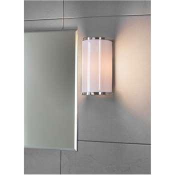 Wardour Bathroom Wall Light - Satin Nickel (20.2 x 10.5cm)