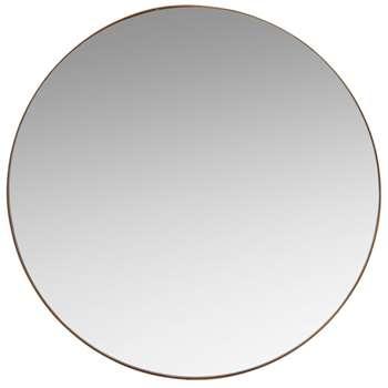 WARREN - Matte Gold Round Metal Mirror D48 (H47.5 x W47.5 x D2cm)