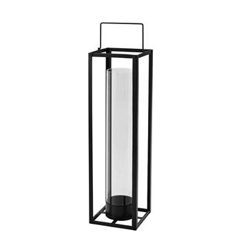 WARREN metal lantern in black (69 x 20cm)