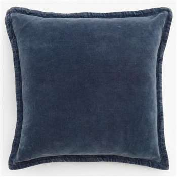 Washed Velvet Cushion - Indigo (H50 x W50cm)