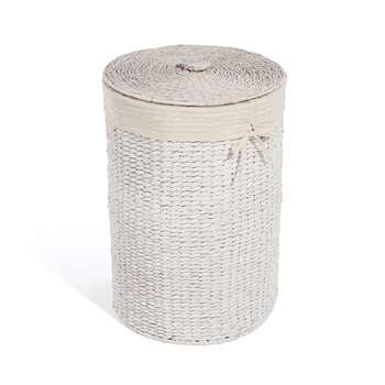 Water Hyacinth Round Laundry Basket (58 x 40cm)