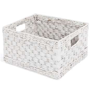 Water Hyacinth Shelf Storage Basket (21 x 39cm)