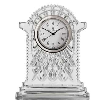Waterford Crystal Lismore Carriage Clock, Large (H18.5 x W14 x D4.5cm)