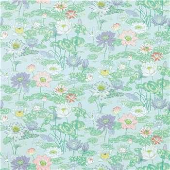 Waterlilies Pale Iris Wallpaper