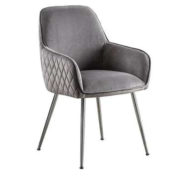 Watson Carver Chair - Dove Grey (H86 x W57 x D60cm)