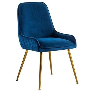Watson Dining Chair - Ink Blue (H86 x W57 x D60cm)