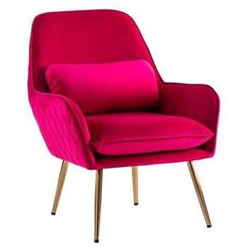 Watson Lounge Chair - Hot Pink (H78 x W68 x D73cm)