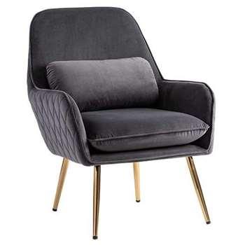 Watson Lounge Chair - Smoke Grey (H78 x W68 x D73cm)