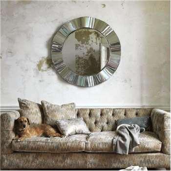 Wavy Silver Wall Mirror (Diameter 96cm)