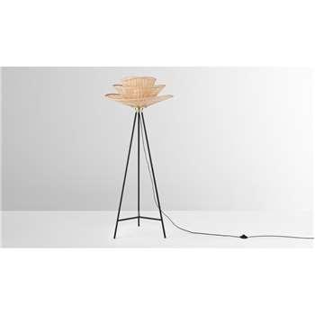 Weaver Floor Lamp, Natural Bamboo (H153 x W65 x D65cm)