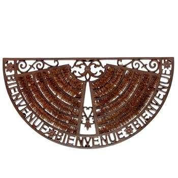 WELCOME wrought iron doormat in brown (H37 x W70 x D3cm)