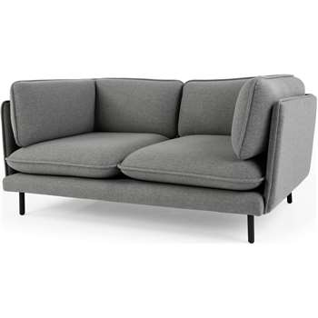 Wes 2 Seater Sofa, Whisper Grey (80 x 155cm)