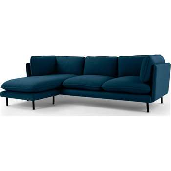 Wes 3 Seater Chaise End Corner Sofa, Elite Teal (H80 x W232 x D150cm)