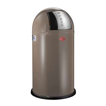 Wesco - Pushboy Bin - 50L - Warm Grey (H75 x W40 x D40cm)