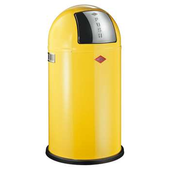 Wesco Pushboy Bin - Lemon Yellow (H75.5 x W40 x D40cm)