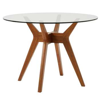 west elm Jensen 4 Seater Round Dining Table (H76 x W107 x D107cm)