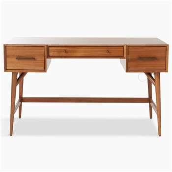 west elm Mid-Century Desk, Acorn (H76 x W132 x D61cm)