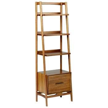 west elm Mid-Century Narrow Bookshelf, Acorn (H178.4 x W55.8 x D38.1cm)