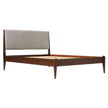 west elm Modern Show Bed, King Size, Brown (H114.8 x W161 x D210cm)