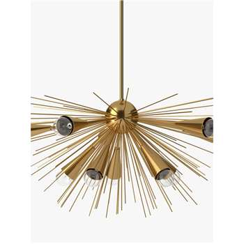 west elm Sputnik Chandelier Ceiling Light, Brass (H46 x W73 x D88cm)