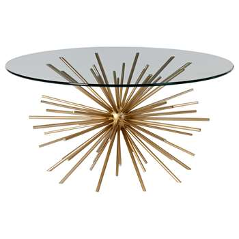 west elm Sputnik Coffee Table, Brass / Glass (H43 x W73.6cm)