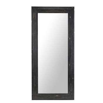 WEST INDIES - Black Pine Mirror with Mouldings (H175 x W80 x D3.5cm)