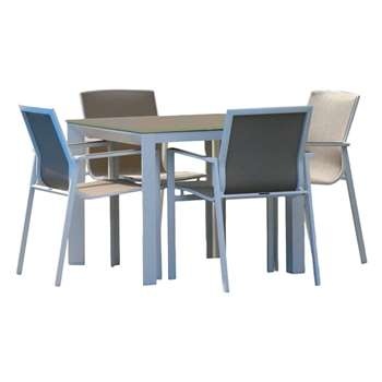 Westminster Madison Square 4 Seater Garden Dining Set, White Stone