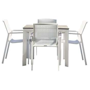 Westminster Madison Square 4 Seater High Pressure Laminate Table Top Garden Dining Set