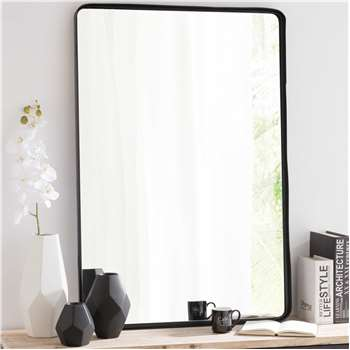 WESTON Black Metal Mirror (H110 x W75 x D4cm)