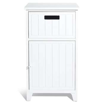 Whitby Towel Cupboard, White (H70.5 x W40 x D28cm)