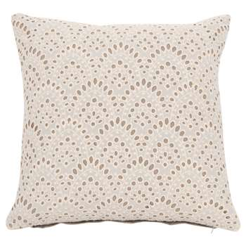White Cotton and Lace Cushion Cover (H40 x W40cm)