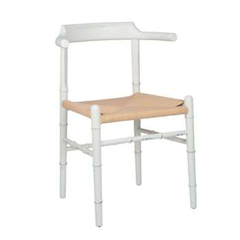 White Elm Wood and Paper Chair (H71 x W54 x D61cm)