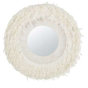 White Feather Mirror (H102 x W102 x D9cm)