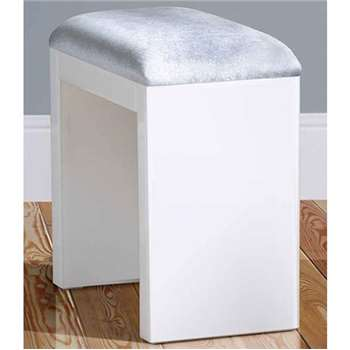 White Glass Stool (H47 x W45 x D25cm)