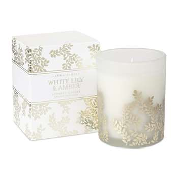 White Lily and Amber Scented Candle (9 x 7.5cm)