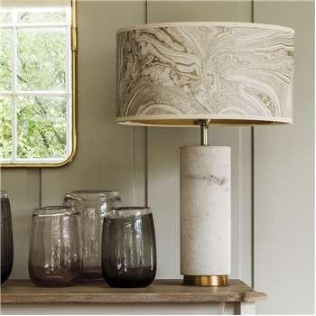 White Marble Shimmering Lamp (H28 x W10 x D10cm)