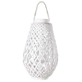 White natural woven lantern ZANZIBAR (56 x 35cm)