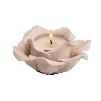 White Rose Ceramic Votive (4 x 10cm)