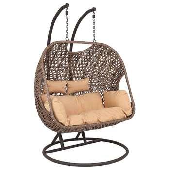 Wido Rattan Double Swinging Egg Chair (H198 x W119 x D119cm)