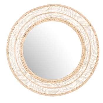 WILD Round Woven Wicker Mirror (Diameter 104cm)