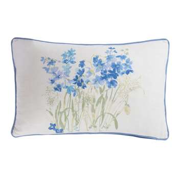 Wildflowers Printed Bluebell Cushion (H30 x W50cm)