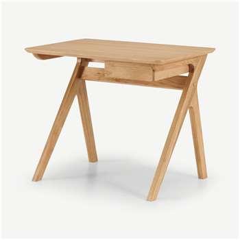 Wilkinson Compact Desk, Oak (H74 x W90 x D61cm)