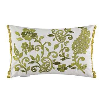 William Yeoward - Floretta Paisley Cushion - Citrine (H40 x W60cm)