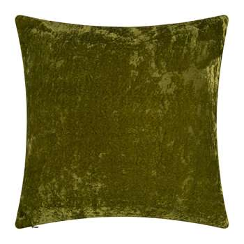 William Yeoward - Paddy Velvet Cushion - Olive (H50 x W50cm)