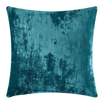 William Yeoward - Paddy Velvet Cushion - Peacock (H50 x W50cm)