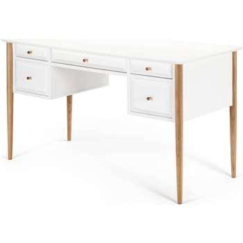 Willow Desk, Oak and White (76 x 130cm)