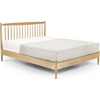 Willow Double Bed, Oak (H105 x W145 x D199cm)